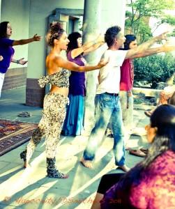 Rehearsing for Siddhartha - Paula Padma - Sara Cole-Burnett - Mahara Brenna - Jesai Jayhmes Burnett