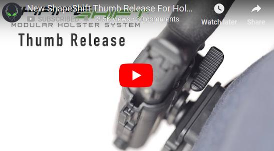 Alien Gear Holsters ShapeShift Thumb Release for Holster Retention