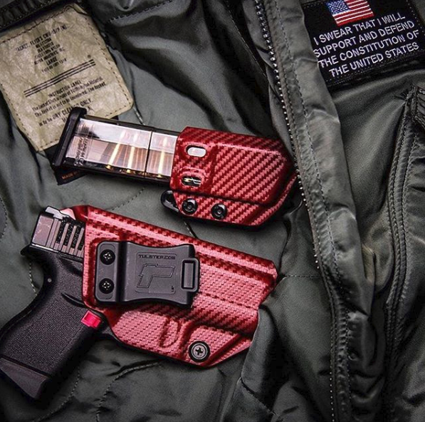 Tulster Profile Holster & Mag Carrier in Blood Red Carbon Fiber