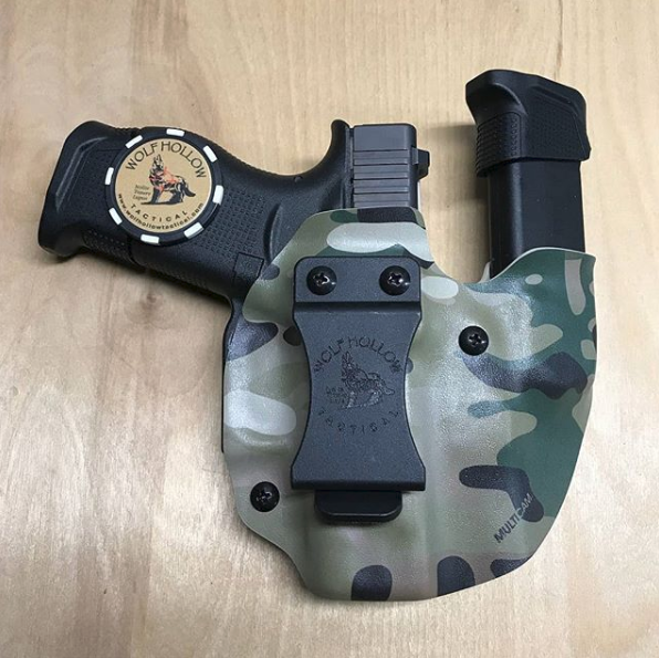 Glock 43 in a Wolf Pack AIWB Kydex Holster with Mag Carrier