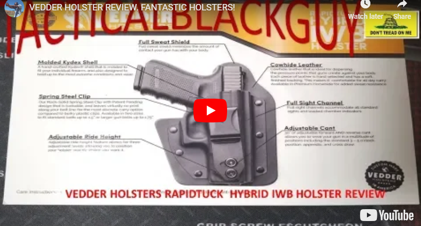 Holster Review - Vedder Holsters RapidTuck IWB