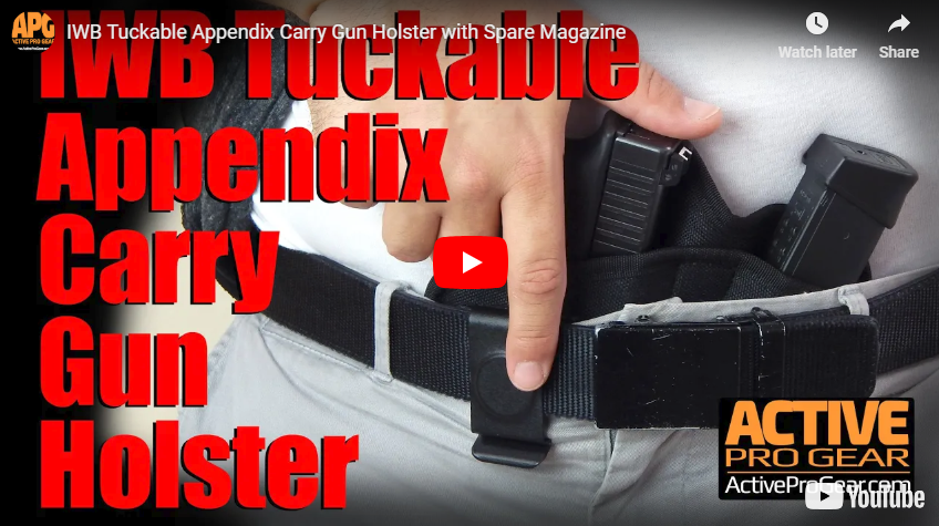 IWB Tuckable Appendix Carry Gun Holster with Spare Magazine
