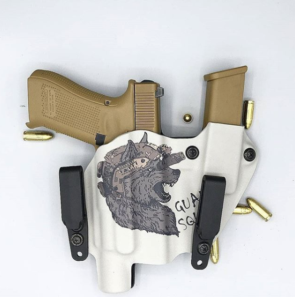 Custom Print Holster with Mag Carrier from Warthog Holsters