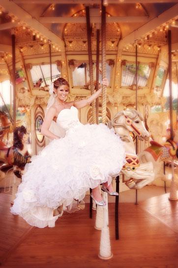 Bride on a Carousel