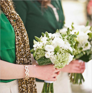 Wedding bouquets for St Patricks Day