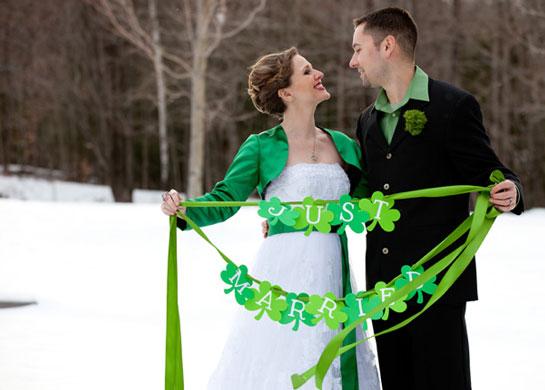 St Patricks Day Wedding Banner