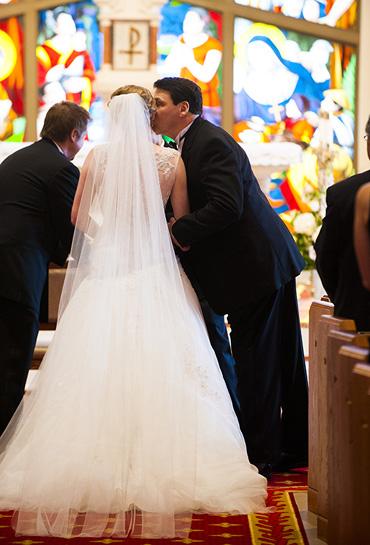 Dad Kissing Bride