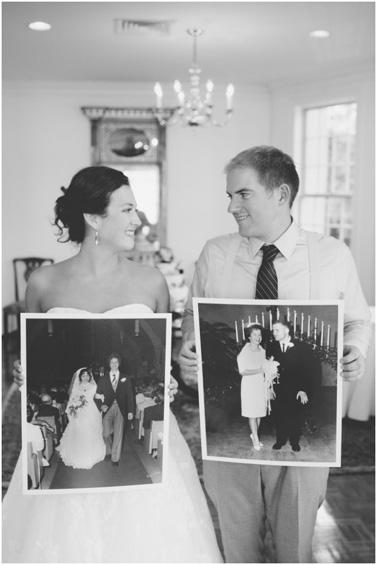 Hold Parents Wedding Photos