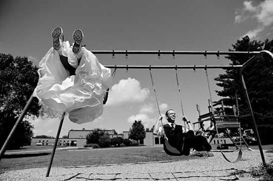 Bride & Groom swinging