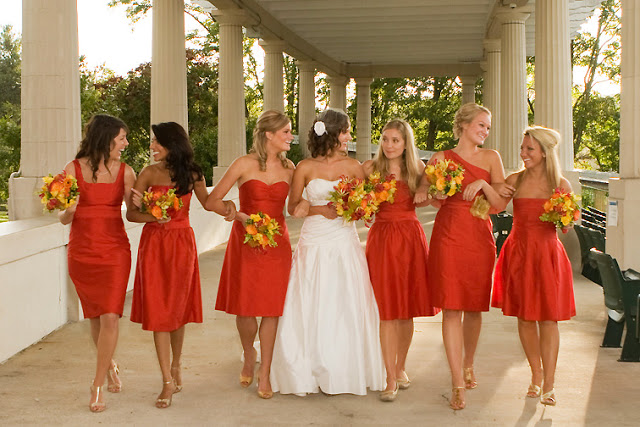 Same Color, Different Dress style Bridesmaids