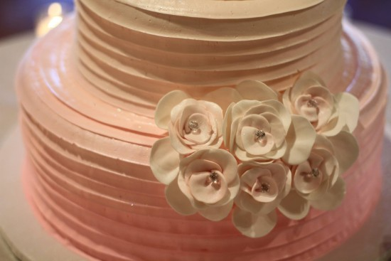 Wedding cake - Pink and white