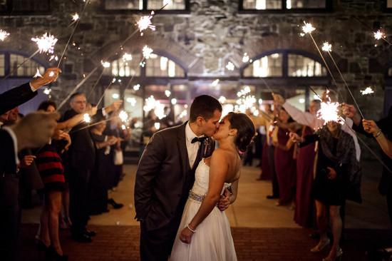 Exiting the Reception Kiss - Philadelphia PA Wedding