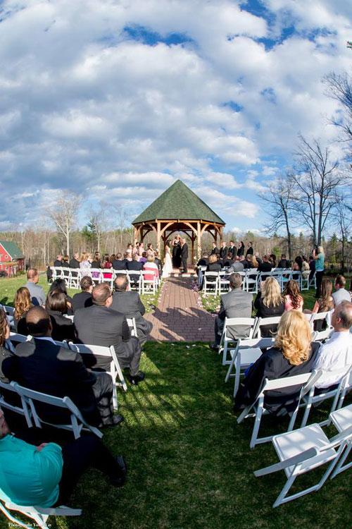 Wedding Ceremony at Vineyard Wedding