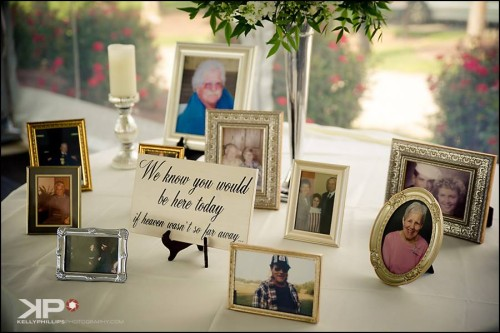 Remember lost loved ones at wedding