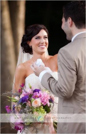 Bride and Groom Arkansas Wedding