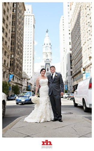 Bride and Groom Downtown Philadelphia