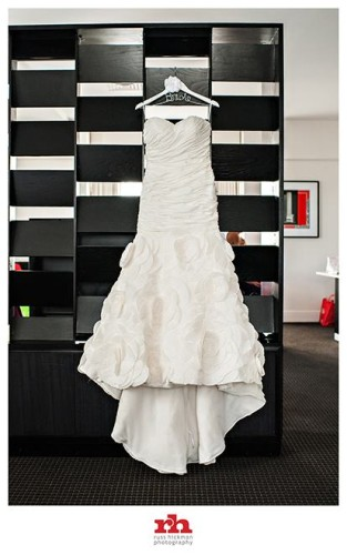 Brides Dress at Philadelphia Wedding