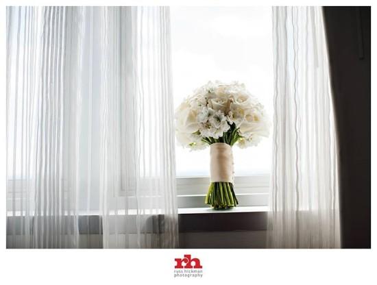 Brides Bouquet in Window