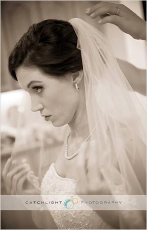 Bride Getting Ready - Backyard Wedding