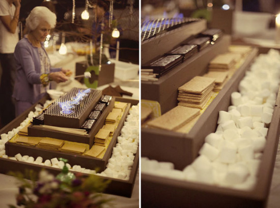 S'mores station at Wedding