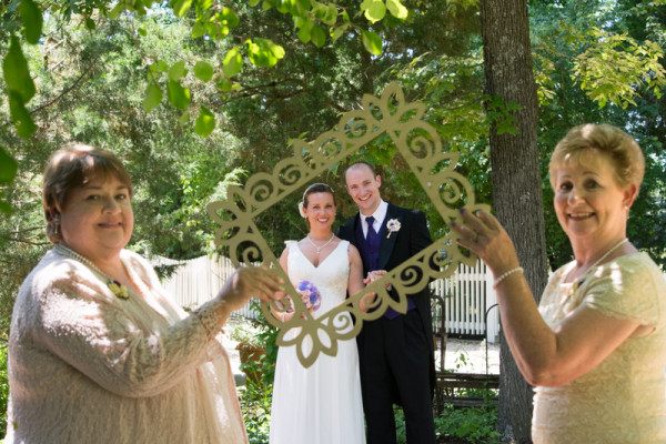 Frame in a Frame Wedding Photo