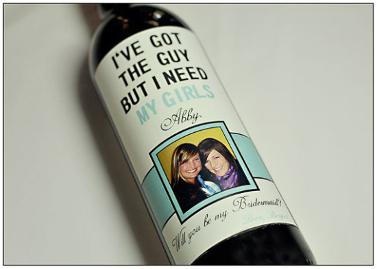 Will You Be My Bridesmaid? Wine Bottle
