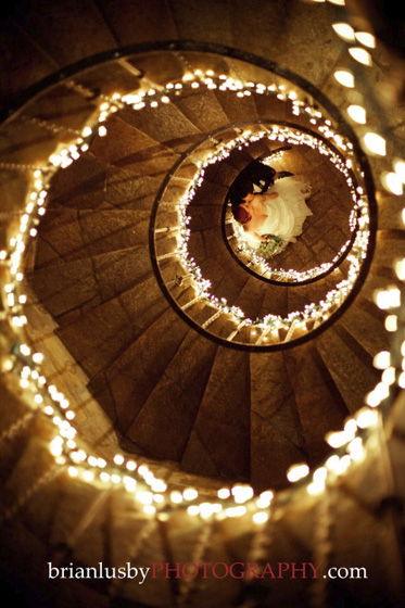 Wedding Photo on Stairs Brianlusby Virginia