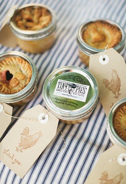 Pie in a Jar Wedding Favors