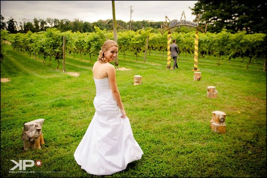 First Look New Jersey Winery Wedding