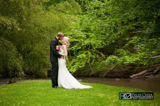 Bride & Groom at pennsylvania wedding