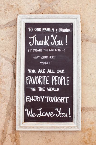 Wedding Sign Thank You