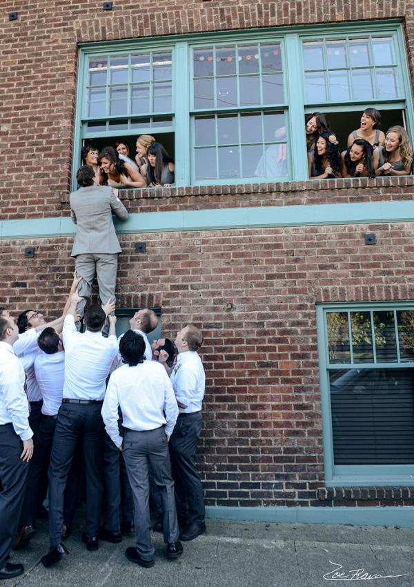 Secret Kiss - Wedding Party Photo Ideas