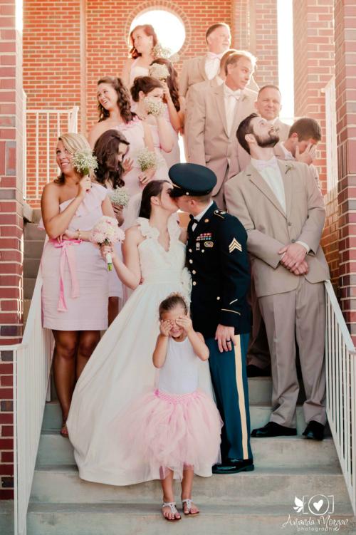 Kiss - Wedding Party Photo Idea