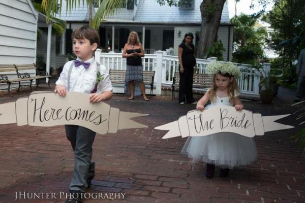 Flower girl and ring bearer - Key West Wedding