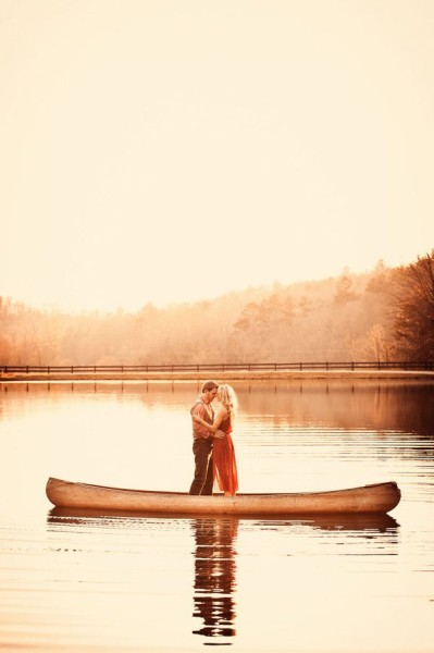 Fall Engagement Photo Ideas - Boat Ride
