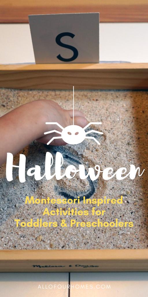Halloween Montessori Activities for toddler or preschooler