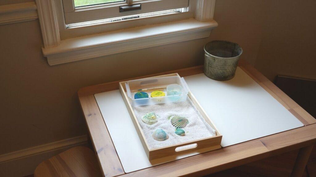 Montessori Art and Craft Area at Home