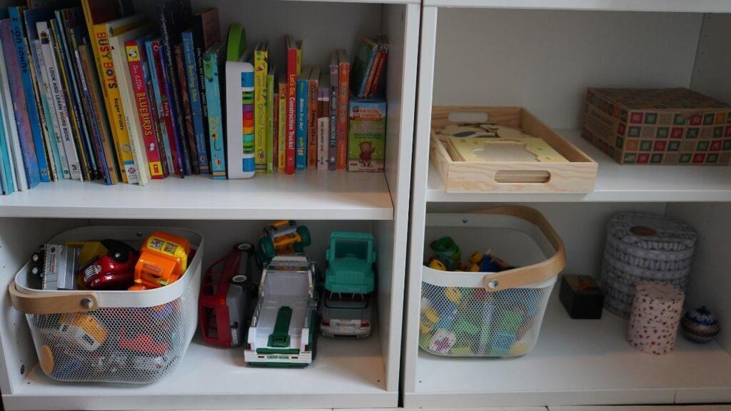 Montessori Shelves Set Up at Home