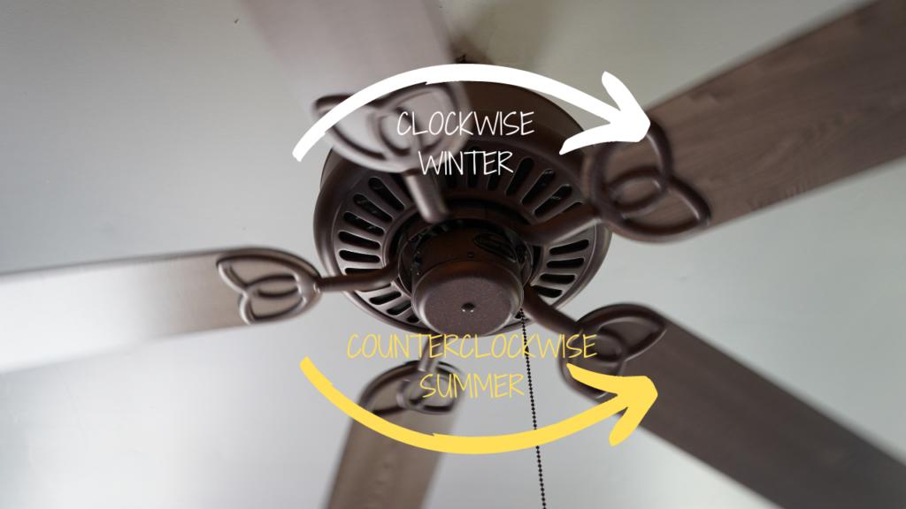 Fan direction for winter
