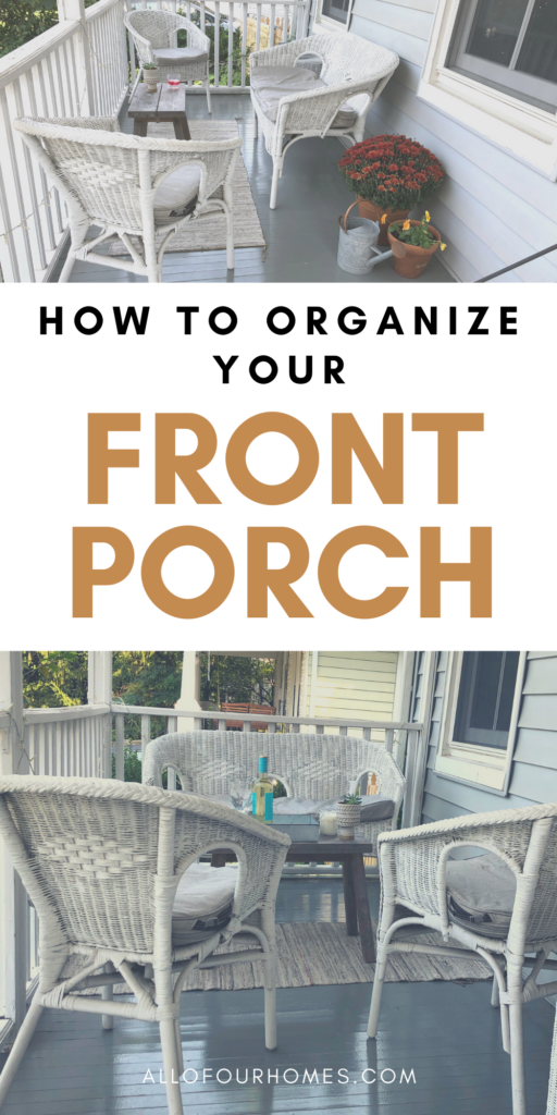 How To Organize Your Front Porch old house