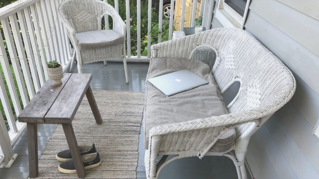 Front Porch Home Office Layout