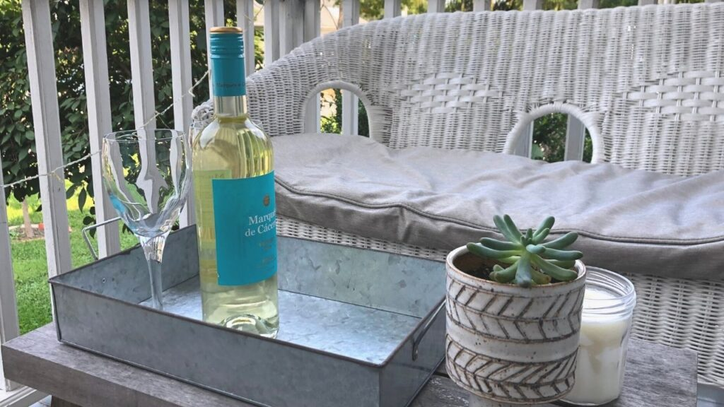 Wine and Wicker Porch Layout