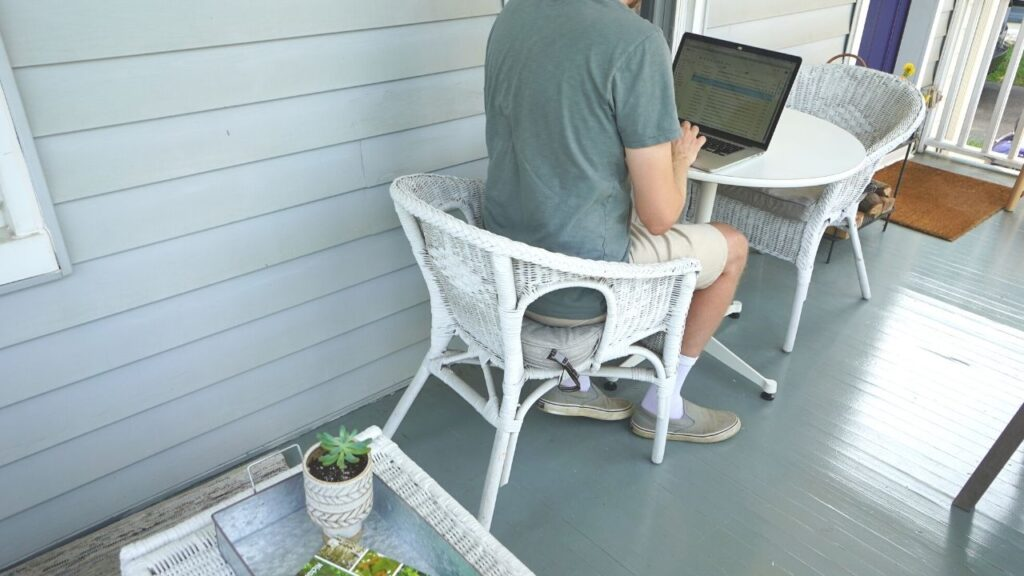 Working from home Front Porch