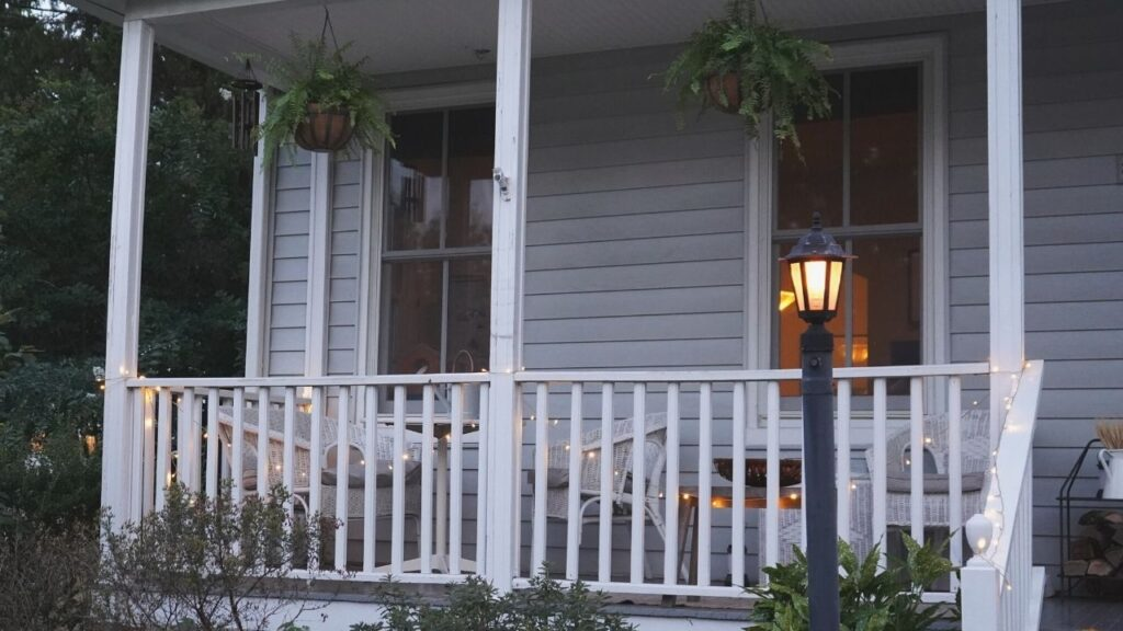 Fall Front Porch lights