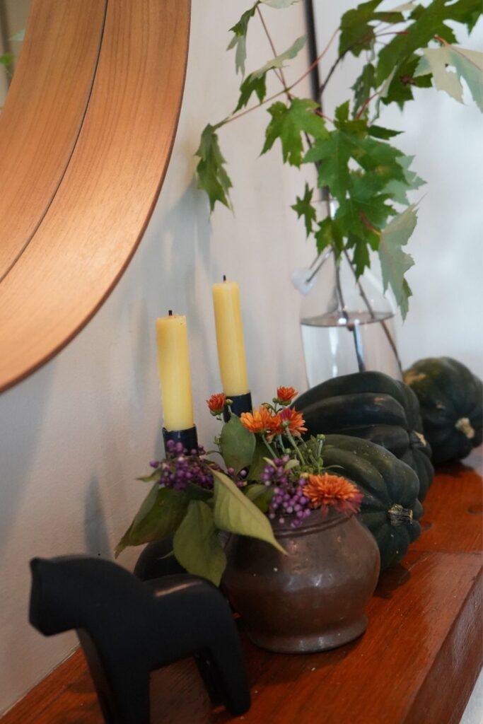 Fall Mantle Acorn Squash