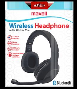 Wireless Headphones with Boom Mic