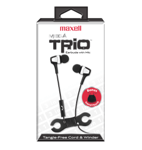 Mega Trio – Combo Pack Cord Winder – Built in MIC – Carrying Pouch