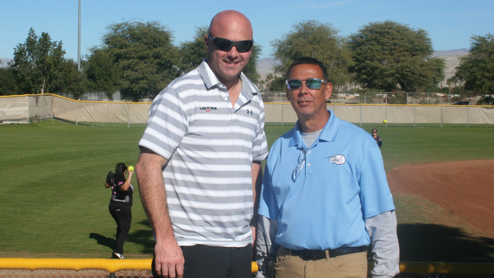 USSSA Washington State Director, Strojan Kennison (left) and Big League dreams' GM, Ed Farmer.