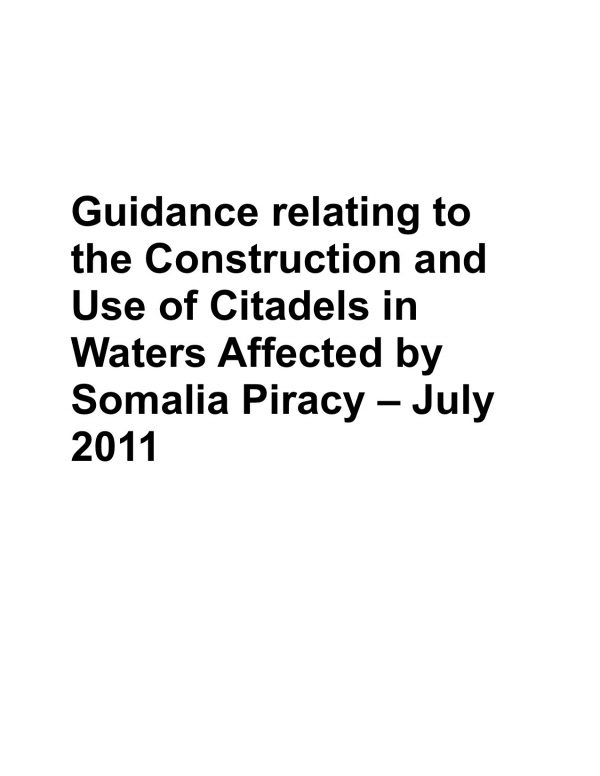 Guidance relating to the Construction