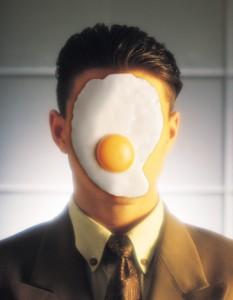 Egg on face